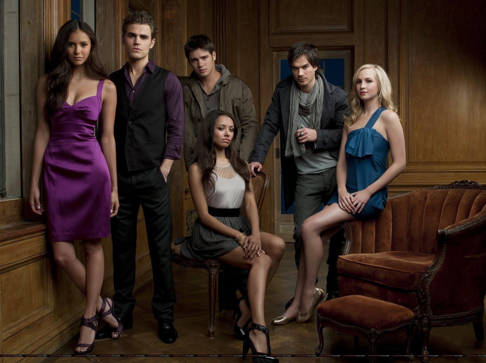 """... os episódios da Primeira Temporada da série """"Diario do Vampiro"""
