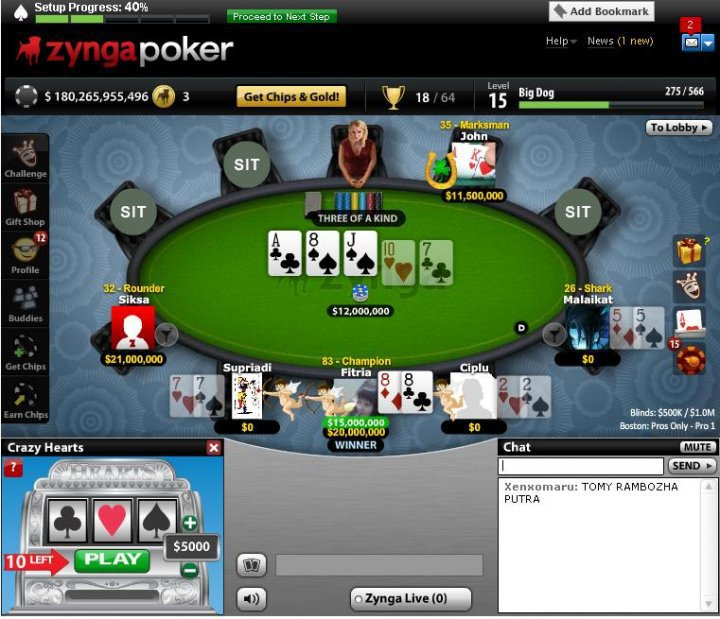 Jual paket id zynga poker
