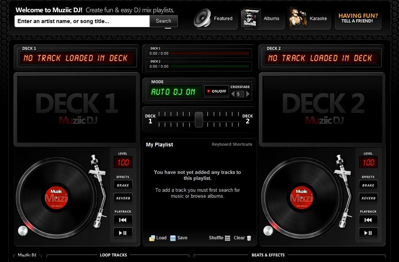 Muziic dj mixer comme un pro sur les vid os de youtube - Table de mixage en ligne gratuit ...