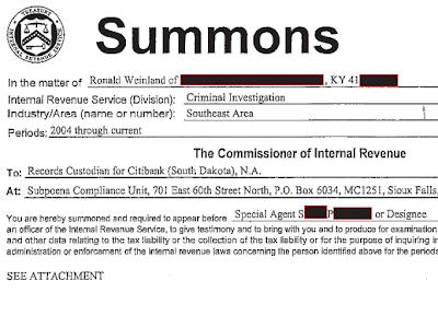 Weinland summons