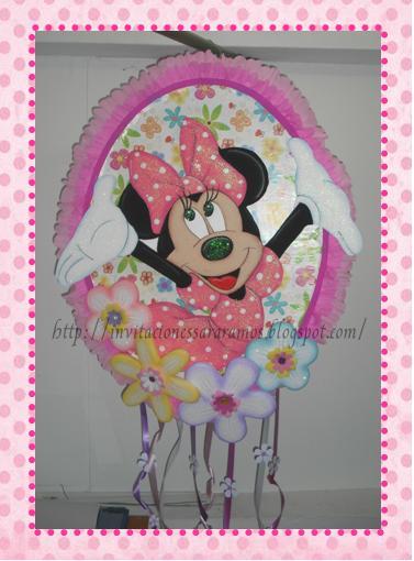 Fiesta Minnie Mouse  Invitaciones  Centros De Mesa  Cotilones