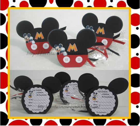 Invitaciones de Mickey Mouse en foami - Imagui