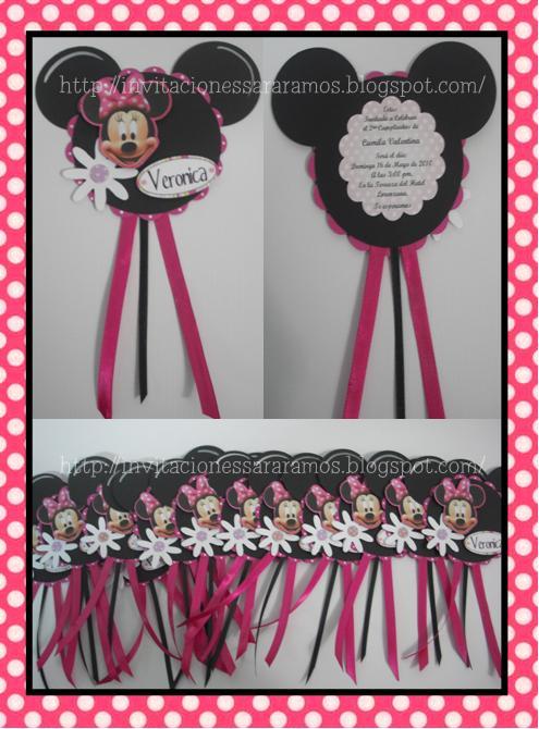 Invitacion Cumpleaños Minnie Mouse