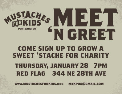Grow A Mustache - Help Kids - Party | January 28