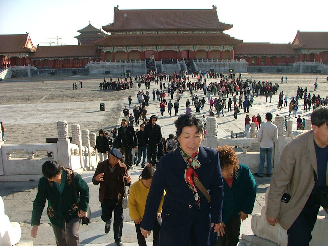 The tourists at Tiananmen
