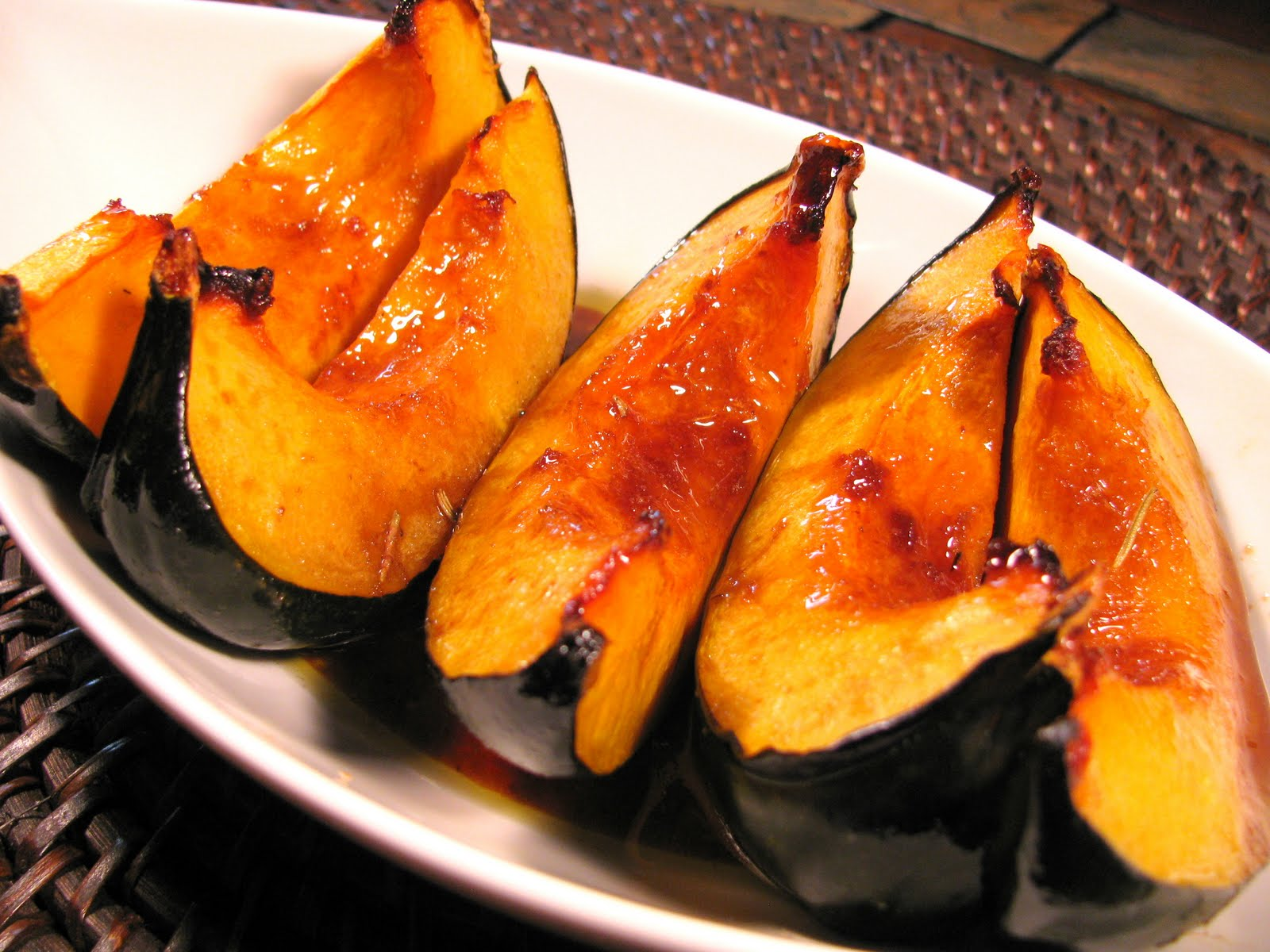 Sweet-Roasted Rosemary Acorn Squash Wedges Recipe — Dishmaps