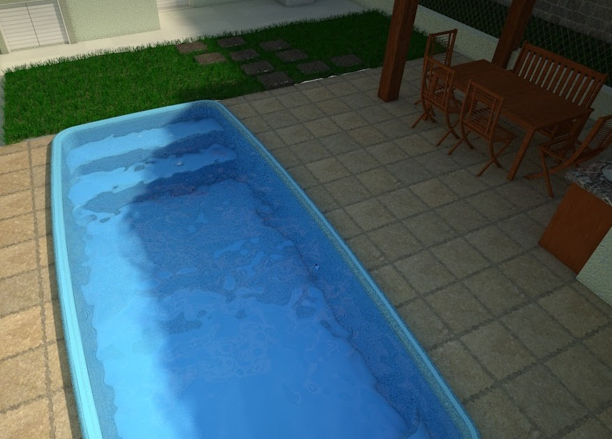 Cad brasil bloco de piscina 3d for Piscina 3d