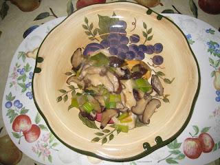 鮮冬菇韭菜雞扒