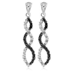 Black Diamond Infinity Earrings