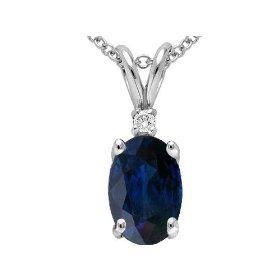 Genuine Sapphire Pendant