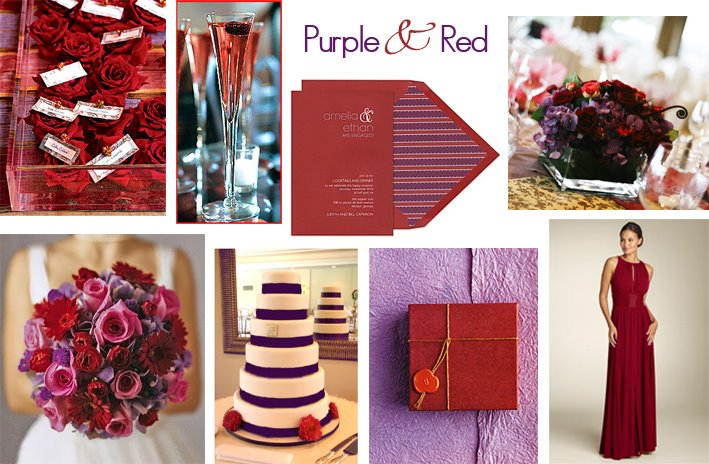 425 Post Red and Purple Wedding