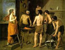 Dionisos visitando la fragua de su hermano