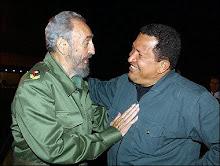 Fidel Castro y Rafael Chavez