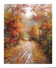 El sol entrando en el otoño
