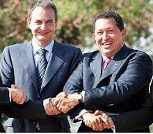 Zapatero y Hugo Cháves