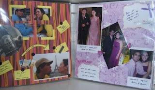 scrapbook para 3 anos de namoro