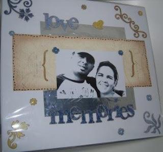 scrapbook para aniversário de namoro
