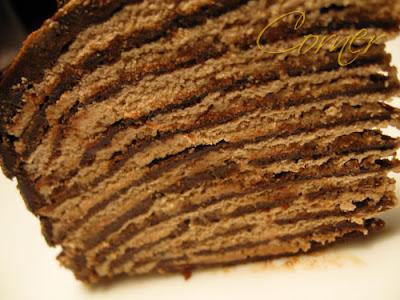 Almond Corner: Double DB: Darkest Chocolate Crêpe Cake