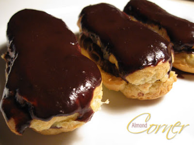 pierre hermé s chocolate éclairs recipe from chocolate desserts by ...