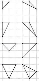 Triángulos en la trama