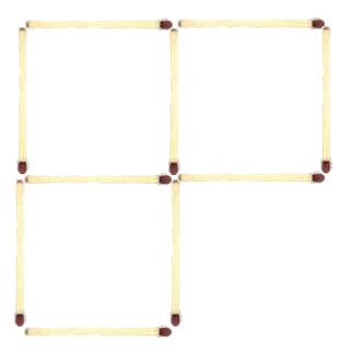 Tres cuadrados