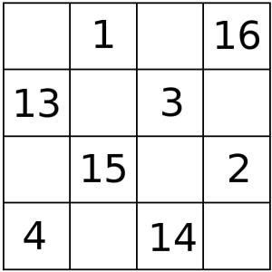 Muestra de tablero 4x4