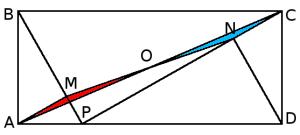 La diagonal y los triángulos