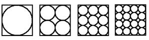 Cuadrado con círculos