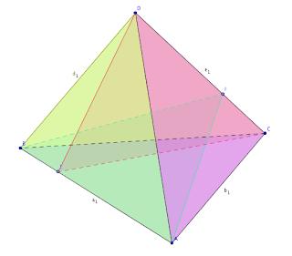 Pirámide y 6 planos