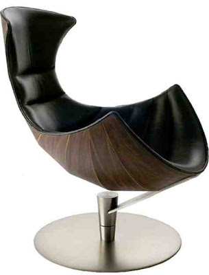 Curved Nest Leather chair