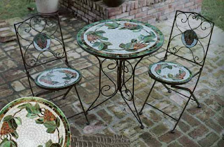 Outdoor Furniture - Tables - Mosaic Outdoor Tiffany Furniture