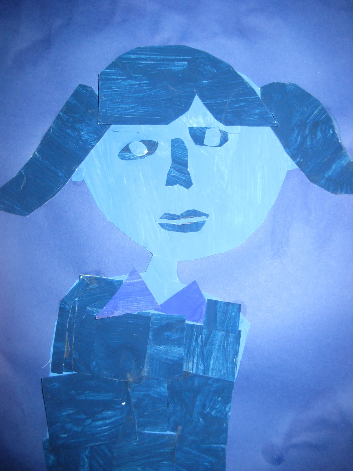 The lake forest louvre third grade monochromatic self for Famous monochromatic paintings
