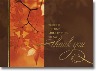 leaf design thanksgiving box card