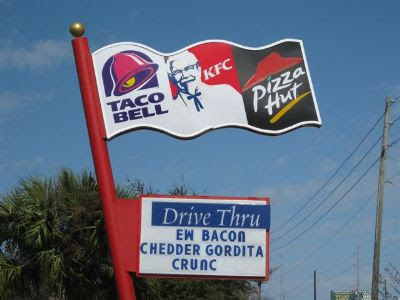 ... restaurants like the combination Pizza Hut-Taco Bell that Das Racist