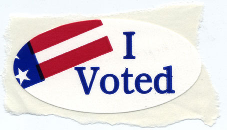 &quot;I Voted&quot; sticker