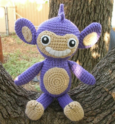 free crochet patterns: aipom plushie