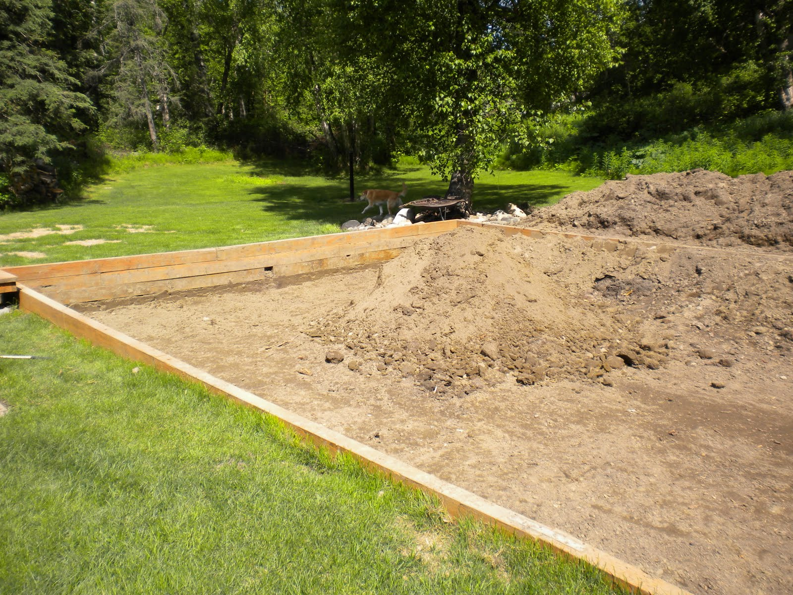 I Had Started Digging To The Right Of The Dirt Ramp We Were Using To Cart  The Material Out Of The Hole. We Continued Clockwise All Around The  Perimeter Of ...