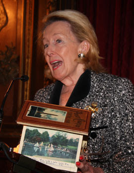 Norma Dana accepting HSNY award of excellence