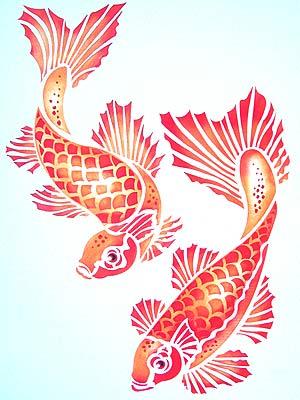 Artesanatos desenhos para fazer stencil for Como criar peces koi