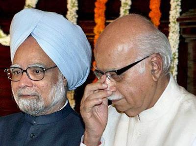 Manmohan Singh with Advani