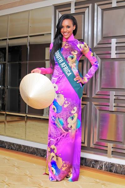 miss earth 2010 ao dai south africa nondyebo dzingwa
