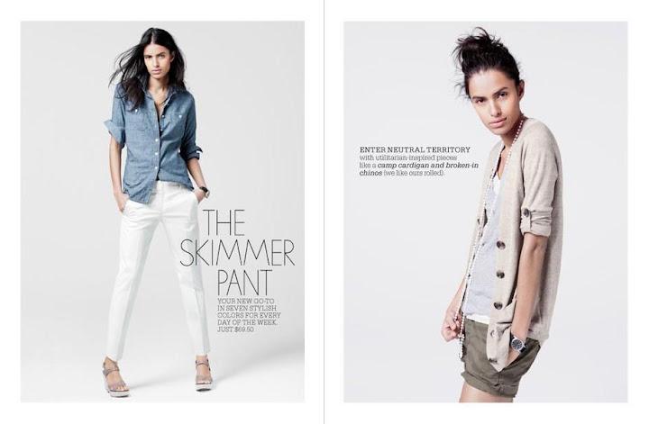Lakshmi Menon pour JCrew, catalogue février 2010