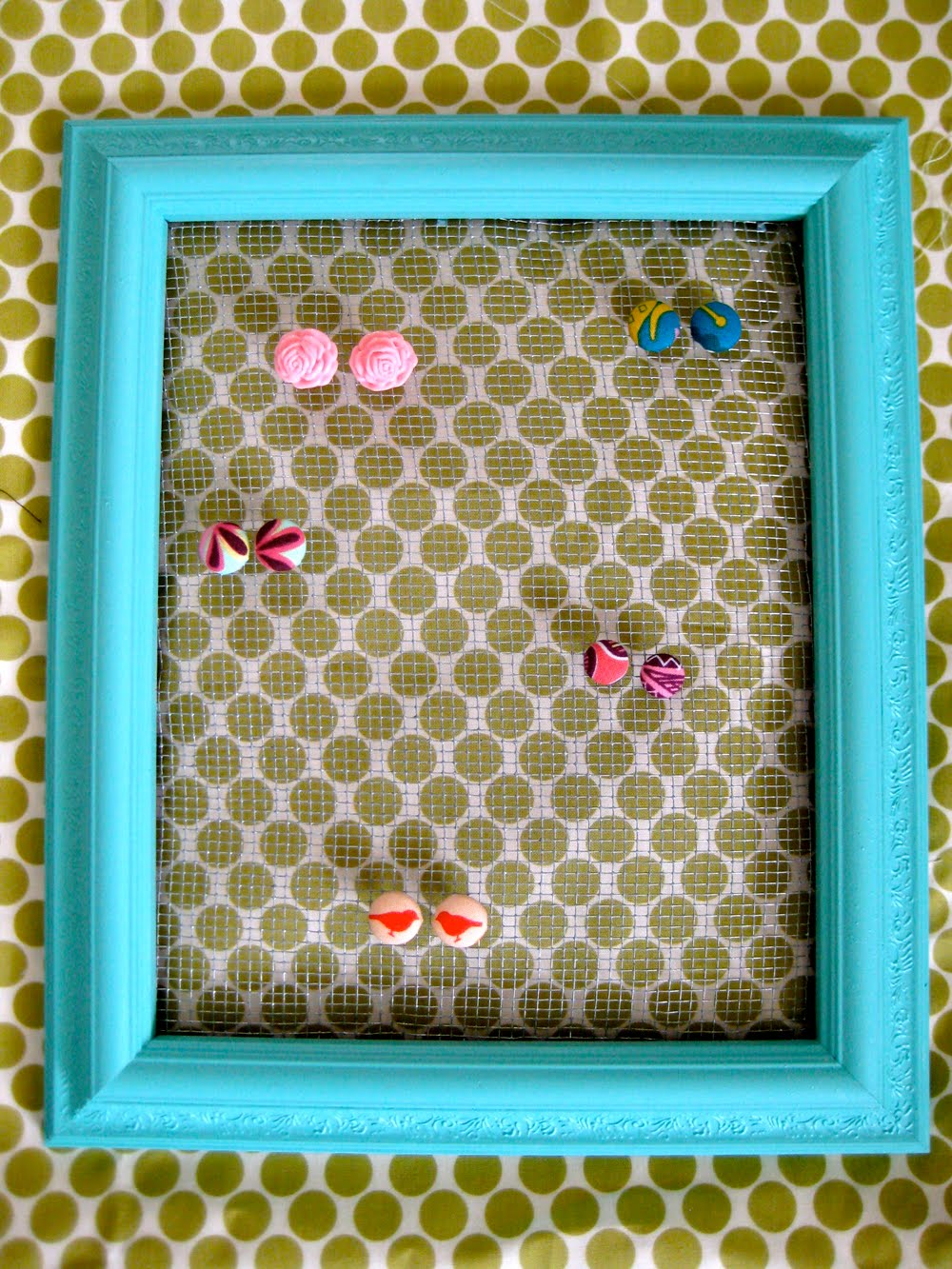 Oh sweet joy diy picture frame earring holder diy picture frame earring holder jeuxipadfo Gallery