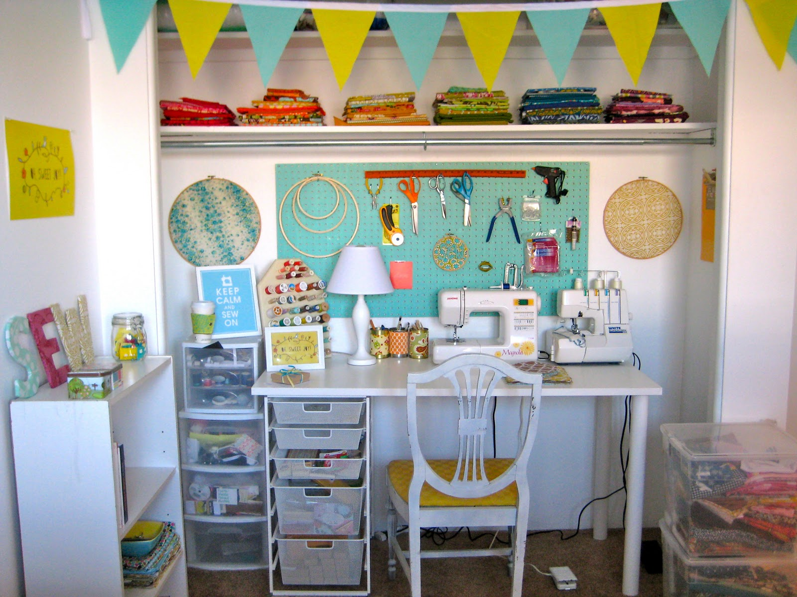 Simple Serendipities Sewing Space Plans