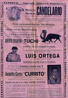 Cartel de fiestas de Candelario Salamanca 1957