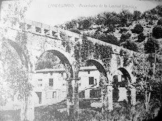 Acueducto de la central electrica de Candelario Salamanca ya desaparecido
