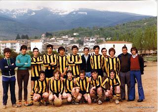 Equipo de futbol de Candelario Salamanca de mediados de los 70