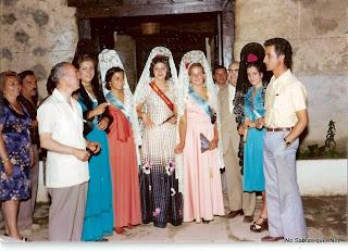 Reina y Damas de honor de las fiestas de Candelario de 1975
