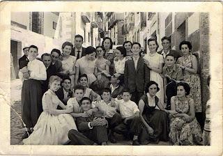 Invitados de una boda en Candelario Salamanca años 50