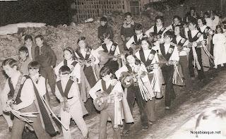 Cabalgata de Reyes en Candelario Salamanca con la rondalla años 70